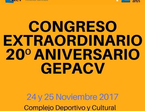Ponentes congreso extraordinario 20º aniversario GEPACV