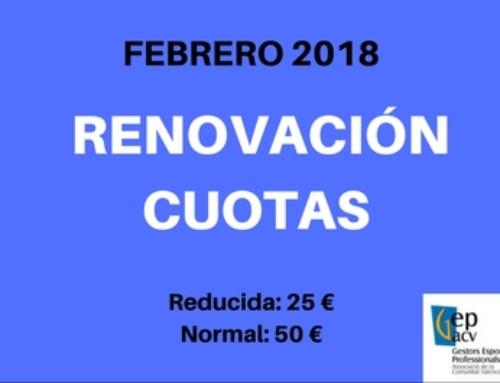 RENOVACIÓN CUOTA SOCIO 2018
