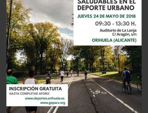 ÉXITO DE INSCRIPCIÓN JORNADA: planificación de instalaciones y entornos saludables en el deporte urbano