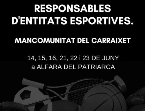 CURSO DE GESTIÓN DEPORTIVA: Mancomunidad del Carraixet y GEPACV