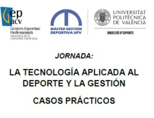 JORNADA TECNOLOGÍA APLICADA AL DEPORTE: Plazas disponibles