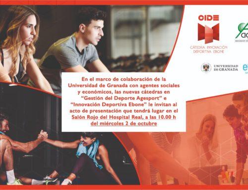UGR y Ebone presentan la Cátedra en Innovación Deportiva Ebone (CIDE)